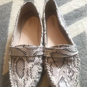Snakeskin driving shoes